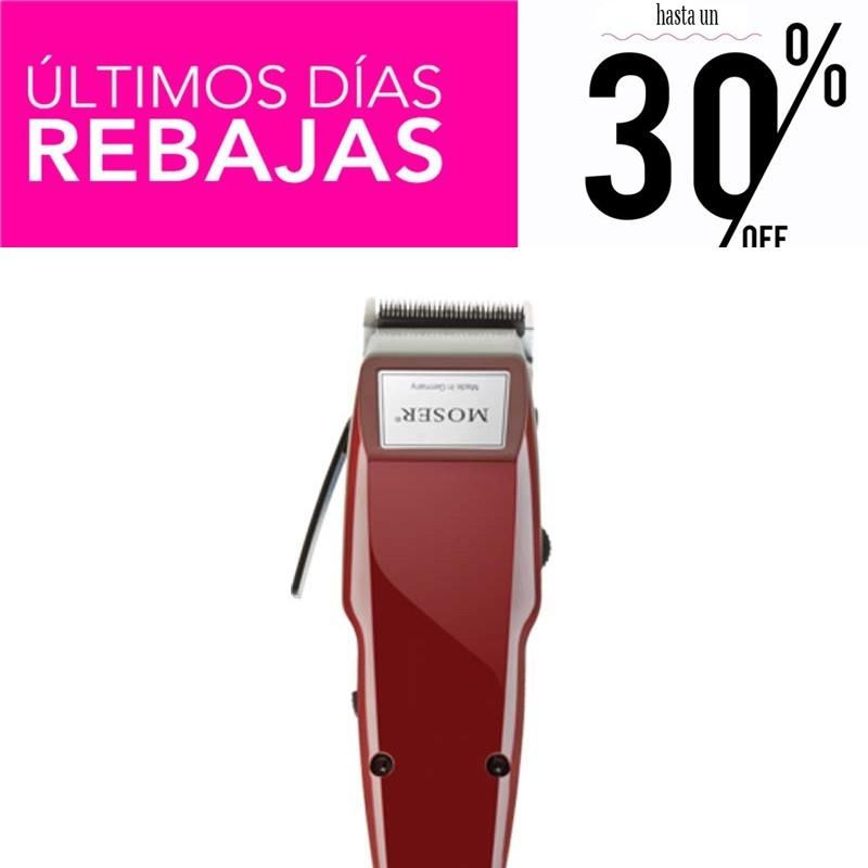 Cortapelos Moser 1400 Rojo Profesional con Cable REBAJAS - 30%