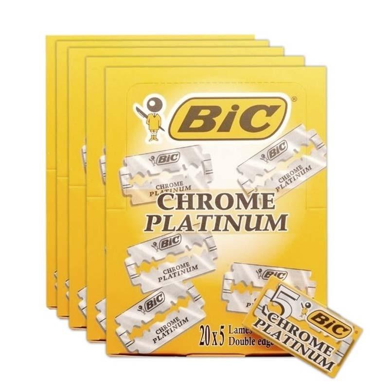 Bic Chrome Platinum pack 5 x 100 Cuchillas de Afeitar