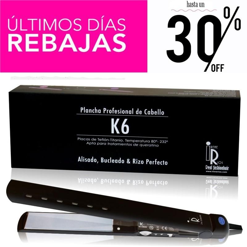 Irene Ríos - Plancha Pelo k6 profesional Alisado Extremo, bucleado y rizado perfecto Rebajas - 30%