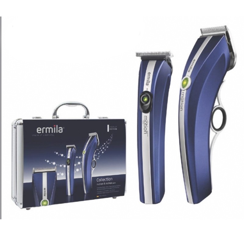 Pack Ermila Motion + Retoque Ermila motion Nano T-CUT blue midnight edition | Comprar pack ermila motion máquina y cortabarbas  |  Ermila Motion COMBO al Mejor Precio | precio pack ermila