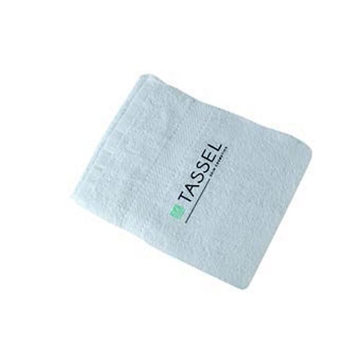Toalla blanca para barbería y Peluquería 100% Algodon 100×180 cm Blanca Tassel | Comprar toalla de peluquería blanca grande  barata |  toalla grande  para peluquería anti lejía